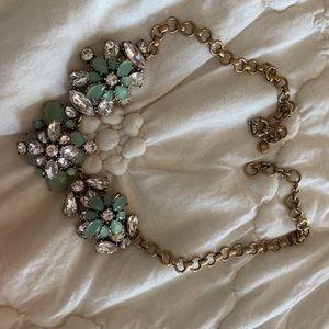 Jcrew flower beaded necklace.